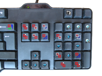 keybord with short keys