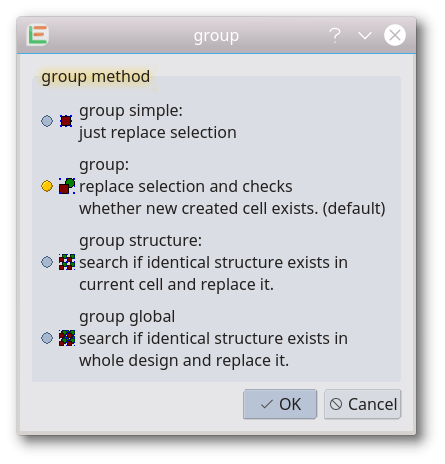Group in the LayoutEditor