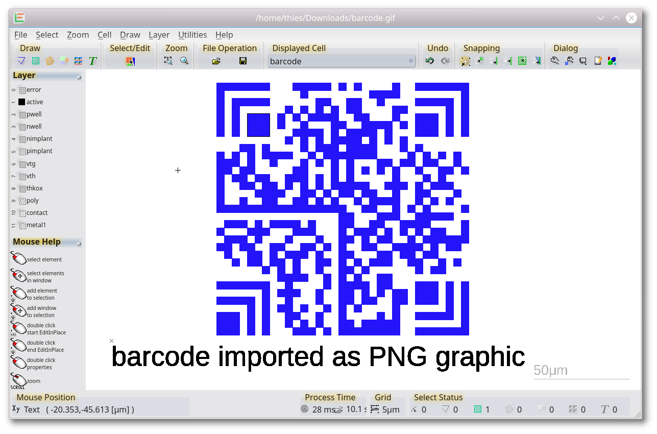 Barcode | LayoutEditor Documentation