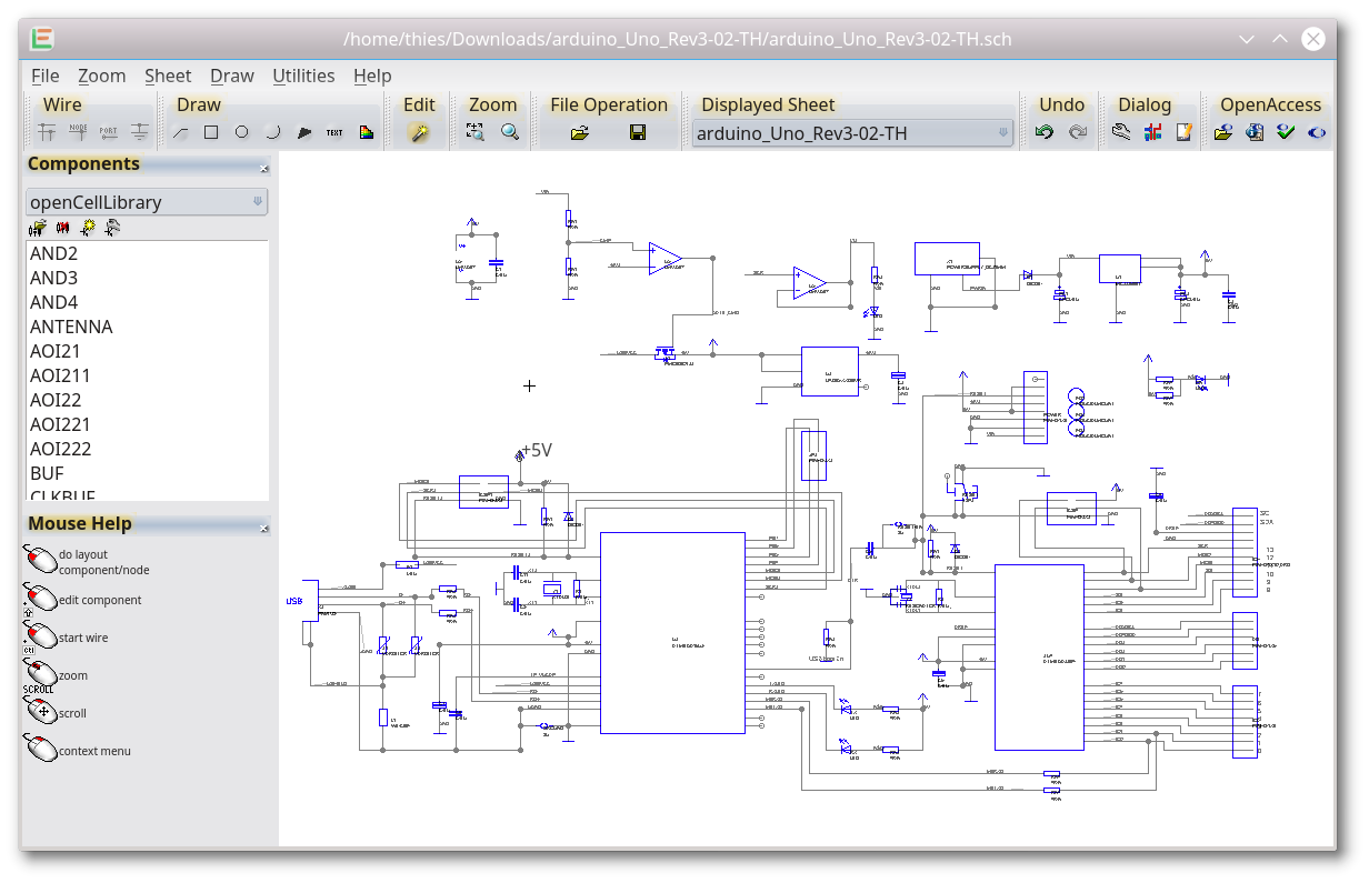 schematic editor with the gdsii viewer